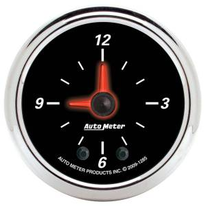 "Apparel & Accessories - Tools & Shop Equipment - AutoMeter - AutoMeter GAUGE, CLOCK, 2 1/16"", 12HR, ANALOG, DESIGNER BLACK II 1285"