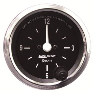 "Apparel & Accessories - Tools & Shop Equipment - AutoMeter - AutoMeter GAUGE, CLOCK, 2 1/16"", 12HR, ANALOG, COBRA 201019"