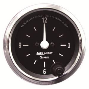 "Apparel & Accessories - Tools & Shop Equipment - AutoMeter - AutoMeter GAUGE, CLOCK, 2 1/16"", 12HR, ANALOG, COBRA 201019"