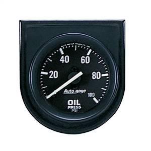 """Electrical - Gauges & Pods - AutoMeter - AutoMeter GAUGE CONSOLE, OIL PRESS, 2"""", 100PSI, BLK DIAL, BLK BEZEL, AUTOGAGE 2332"""