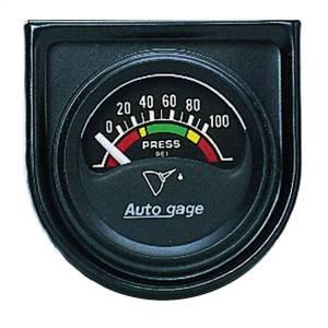 """Electrical - Gauges & Pods - AutoMeter - AutoMeter GAUGE CONSOLE, OIL PRESS, 1.5"""", 100PSI, ELEC, BLK DIAL, BLK BEZEL, AUTOGAGE 2354"""