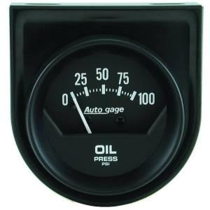 """Electrical - Gauges & Pods - AutoMeter - AutoMeter GAUGE CONSOLE, OIL PRESS, 2"""", 100PSI, MECH, SHORT SWEEP, BLACK, AUTOGAGE 2360"""