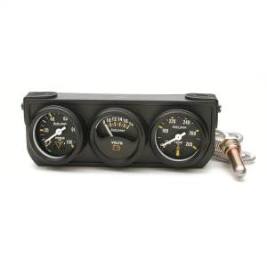"Electrical - Gauges & Pods - AutoMeter - AutoMeter GAUGE CONSOLE, OILP/WTMP/VOLT, 1.5"", 100PSI/280?F/18V, MECH BK DIAL, BK BZL, AG 2396"