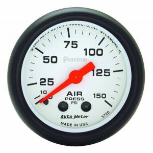 "Apparel & Accessories - Tools & Shop Equipment - AutoMeter - AutoMeter GAUGE, AIR PRESS, 2 1/16"", 150PSI, MECHANICAL, PHANTOM 5720"