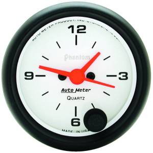 "Apparel & Accessories - Tools & Shop Equipment - AutoMeter - AutoMeter GAUGE, CLOCK, 2 1/16"", 12HR, ANALOG, PHANTOM 5785"