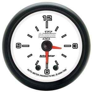 "Apparel & Accessories - Tools & Shop Equipment - AutoMeter - AutoMeter GAUGE, CLOCK, 2 1/16"", 12HR, ANALOG, PHANTOM II 7585"