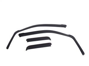EGR EGR in-channel window visors front/rear set dark smoke finish 571501
