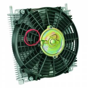 Flex-A-Lite TRANS OIL CLER 11inX9-41/64inX3/4in,29ROW,3/8in BARB,10in FAN/TEMP SWTCH MNTS FG 600029