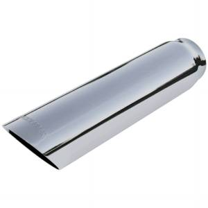 Flowmaster Exhaust Tip - 3.00 in. Cut Angle Polished SS Fits 2.50 in. Tubing - weld on 15362