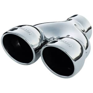 Flowmaster Exhaust Tip - Dual 3.5 in. Rolled Angle Polished SS Fits 2.50 in. Tubing-weld on 15369