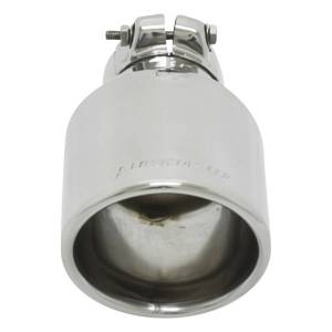 Flowmaster Exhaust Tip - 3.25 x 3.75 in. Oval Polished SS Fits 2.25 in. Tubing - Clamp on 15388