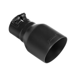 Flowmaster Exhaust Tip - 4.00 in. Black Ceramic Coated - Fits 2.5 in. Tubing- Clamp On 15396B