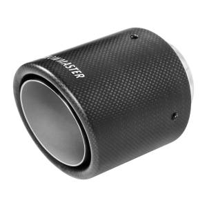 Flowmaster Exhaust Tip - 4 in. Rolled Angle Carbon Fiber Fits 2.5 in. Tubing - Weld On 15400