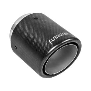 Exhaust Components - Tips - Flowmaster - Flowmaster Exhaust Tip - 4 in. Rolled Angle Carbon Fiber Fits 3 in. Tubing - Weld On 15401
