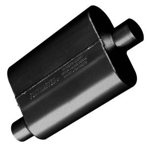 Exhaust Components - Mufflers - Flowmaster - Flowmaster 40 Series Muffler - 2.25 Offset In / 2.25 Center Out - Aggressive Sound 42441