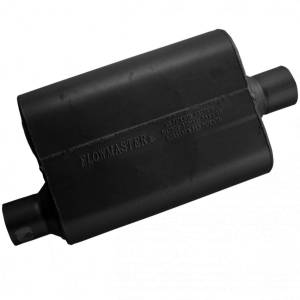 Exhaust Components - Mufflers - Flowmaster - Flowmaster 40 Series Muffler - 2.50 Offset In / 2.50 Center Out - Aggressive Sound 42541