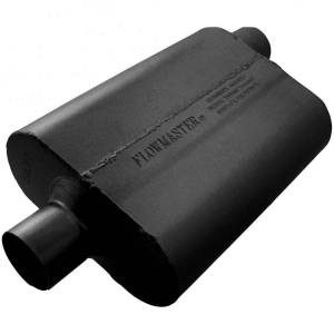 "Exhaust Components - Mufflers - Flowmaster - Flowmaster 40 Series Muffler - 2.50"" IN(C)/OUT(O) - Aggressive Sound 42542"