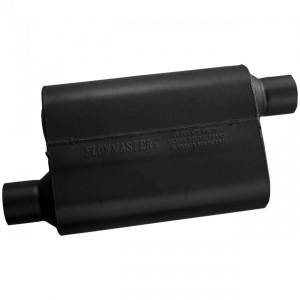 Exhaust Components - Mufflers - Flowmaster - Flowmaster 40 Series Muffler - 2.50 Offset In / 2.50 Offset Out - Aggressive Sound 42543