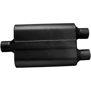 Exhaust Components - Mufflers - Flowmaster - Flowmaster 40 Delta Flow Muffler - 2.25 Center In / 2.25 Dual Out - Aggressive Sound 9424422