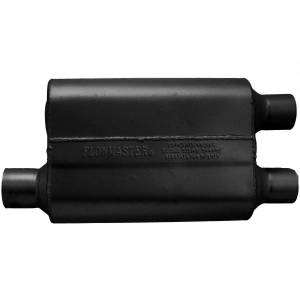Exhaust Components - Mufflers - Flowmaster - Flowmaster 40 Delta Flow Muffler - 2.50 Offset In / 2.25 Dual Out - Aggressive Sound 9425432