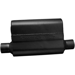 Exhaust Components - Mufflers - Flowmaster - Flowmaster 40 Delta Flow Muffler - 2.50 Offset In / 2.50 Same Side Out - Aggressive Sound 942544