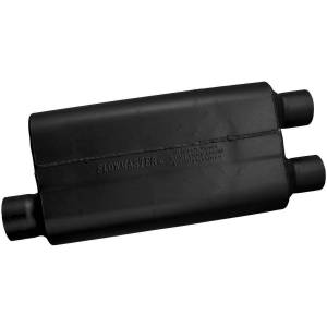 Exhaust Components - Mufflers - Flowmaster - Flowmaster 50 Delta Flow Muffler - 3.00 Offset In / 2.50 Dual Out - Moderate Sound 9430512