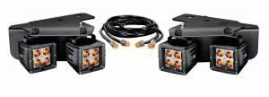 """Lighting - Off Road Lights - KC HiLiTES - KC HiLiTES 3"""" C-SERIES C3 LED Bumper Light System For 10 -15 Ford Raptor (Amber Spot Beam) 342"""