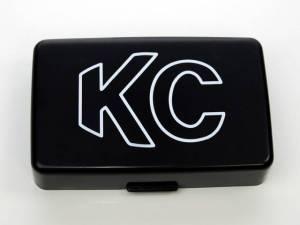 "KC HiLiTES - KC HiLiTES 5"" x 7"" Plastic Cover - KC #5309 (Black with White Outline KC Logo) 5309"