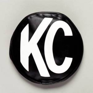 "KC HiLiTES - KC HiLiTES 5"" Vinyl Cover - KC #5400 (Black with White KC Logo) 5400"