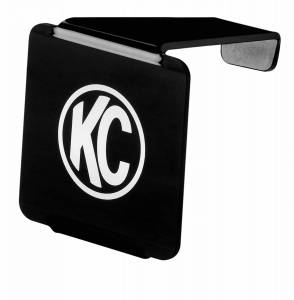 """KC HiLiTES 3"""" LZR Cube LED Acrylic Light Cover - Black w/ White KC Logo - KC #72000 72000"""