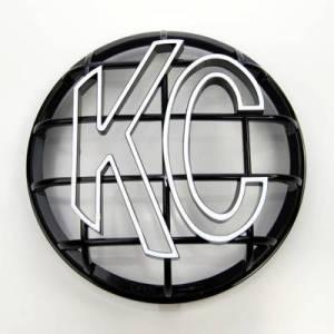 "KC HiLiTES - KC HiLiTES 6"" Apollo Stone Guard - KC #7216 (Black with White KC Logo) 7216"