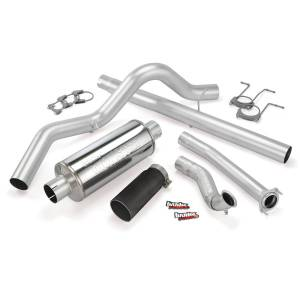 Performance - Exhaust Systems - Banks Power - Banks Power Monster Exhaust System, Single Exit, Black Tip 46298-B