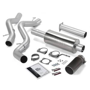 Performance - Exhaust Systems - Banks Power - Banks Power Monster Exhaust System, Single Exit, Black Round Tip 48634-B