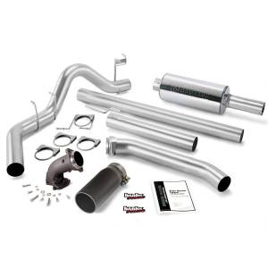 Performance - Exhaust Systems - Banks Power - Banks Power Monster Exhaust System with Power Elbow, Single Exit, Black Round Tip 48637-B