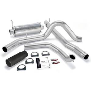 Performance - Exhaust Systems - Banks Power - Banks Power Monster Exhaust System, Single Exit, Black Round Tip 48656-B