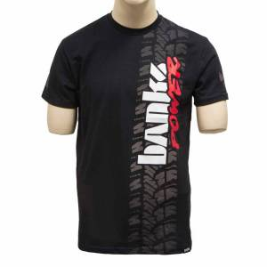 Apparel & Accessories - Shirts - Banks Power - Banks Power Tire Tread T-Shirt Small Black 96168