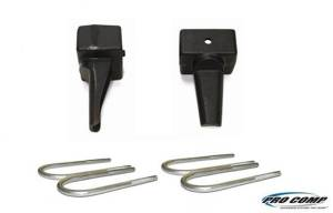 Pro Comp Suspension - Pro Comp Suspension 2.5 Inch Rear Lift Block With U-Bolt Kit 22255