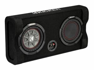"Car Audio - Loaded Enclosures - Kicker - kicker Down-Firing 8"" CompRT 2-Ohm Enclosure"