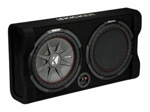 "Kicker - kicker Down-Firing 12"" CompRT 2-Ohm Enclosure - Image 1"