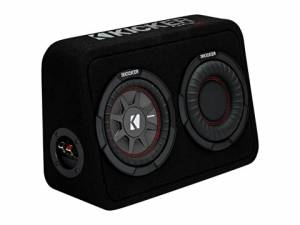 "Car Audio - Loaded Enclosures - Kicker - kicker 6.75"" CompRT 2 Ohm Enclosure"