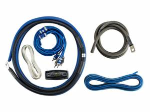 Car Audio - Accessories - Kicker - kicker 4AWG 2-Channel Amp Kit