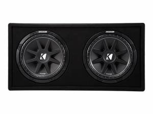 "Car Audio - Loaded Enclosures - Kicker - kicker Dual 12"" Comp Enclosure"