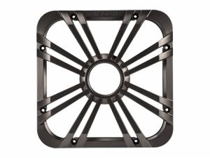 "Marine - Subwoofers - Kicker - kicker 12"" Square Charcoal LED Grille"