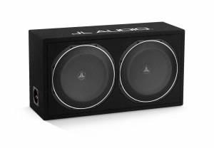 Car Audio - Enclosed Subwoofers - JL Audio - JL Audio CS212LG-TW1 Dual 12TW1 PowerWedge, Sealed, 2 ohm