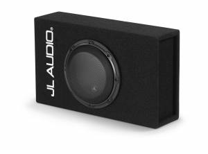 Car Audio - Enclosed Subwoofers - JL Audio - JL Audio ACP108LG-W3v3 Single 8W3v3 MicroSub+™ with DCD™ Amplifier, Ported, 0.40 ohm