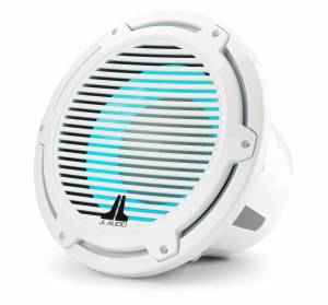JL Audio M7-12IB-C-GwGw-i-4 12-inch (300 mm) Marine Subwoofer Driver with Transflective™ LED Lighting, Gloss White Trim Ring, Gloss White Classic Grille, 4 ohm