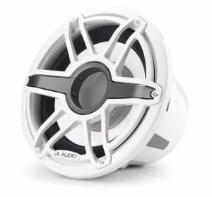JL Audio - JL Audio M7-12IB-S-GwGw-i-4 12-inch (300 mm) Marine Subwoofer Driver with Transflective™ LED Lighting, Gloss White Trim Ring, Gloss White Sport Grille, 4 ohm - Image 6