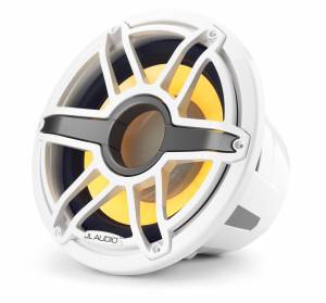 JL Audio - JL Audio M7-12IB-S-GwGw-i-4 12-inch (300 mm) Marine Subwoofer Driver with Transflective™ LED Lighting, Gloss White Trim Ring, Gloss White Sport Grille, 4 ohm - Image 7