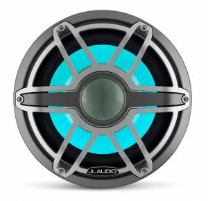 JL Audio - JL Audio M7-12IB-S-GmTi-i-4 12-inch (300 mm) Marine Subwoofer Driver with Transflective™ LED Lighting, Gunmetal Trim Ring, Titanium Sport Grille, 4 ohm - Image 5