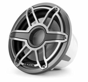 Marine - Subwoofers - JL Audio - JL Audio M7-12IB-S-GmTi-4 12-inch (300 mm) Marine Subwoofer Driver, Gunmetal Trim Ring, Titanium Sport Grille, 4 ohm